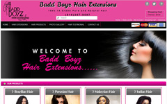 Magento ecommerce website design template jpg for baddboyzgothair website