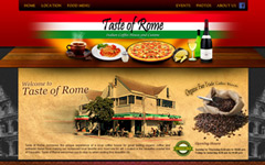 Responsive Wordpress website design portfolio image jpg for Taste of rome website