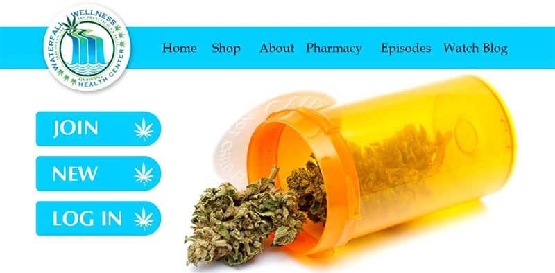 Website Design Template for Marijuana Dispensary San Francisco