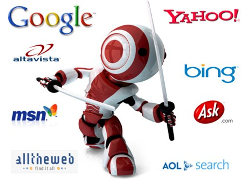 SEO Service in San Francisco png of an Search Engine Optimization Ninja battling search engine logos like google, yahoo and Bing